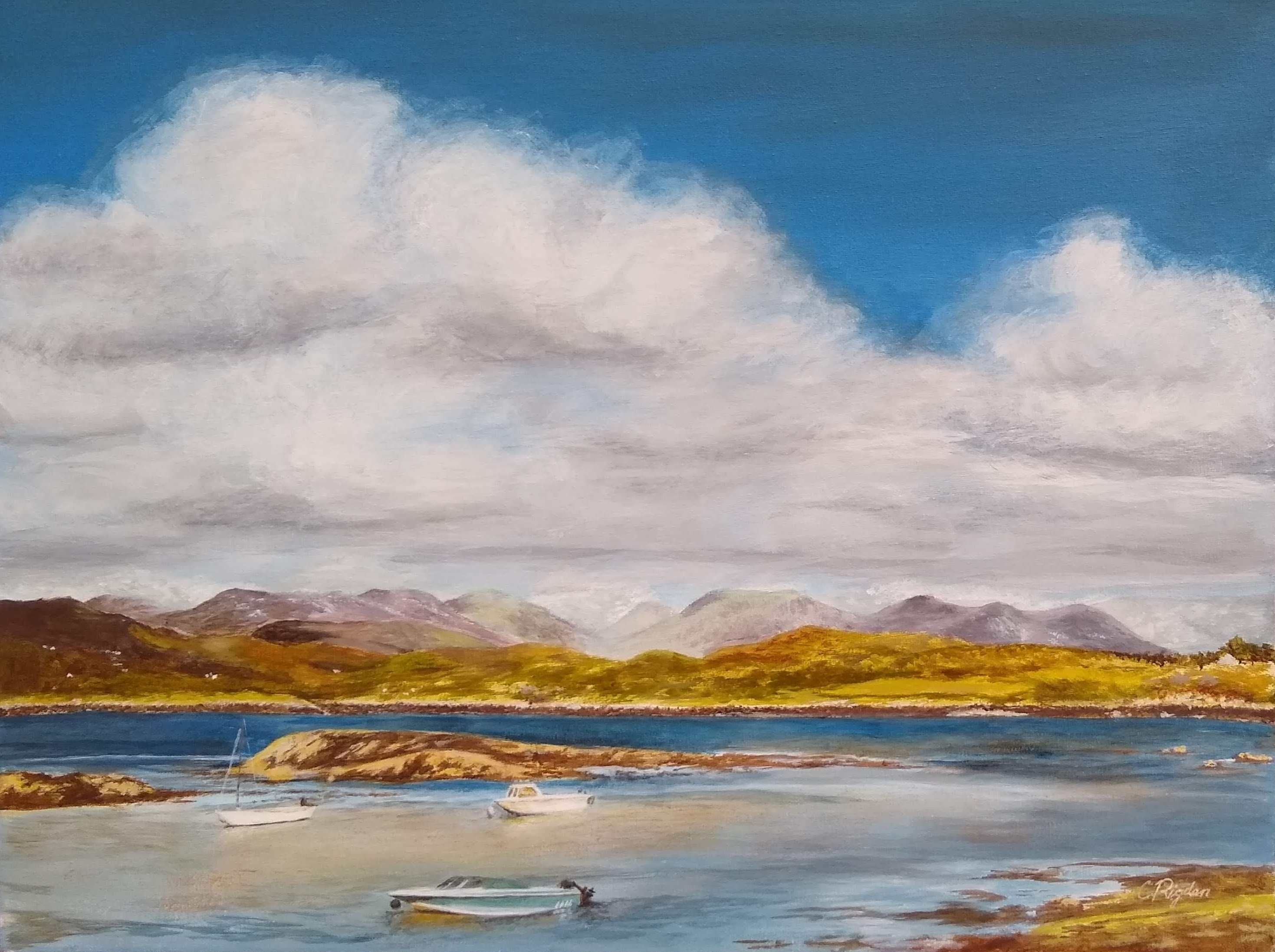 "Connemara, acrylic on canvas, 26"" x 26"" (Christine Rigden) commission"