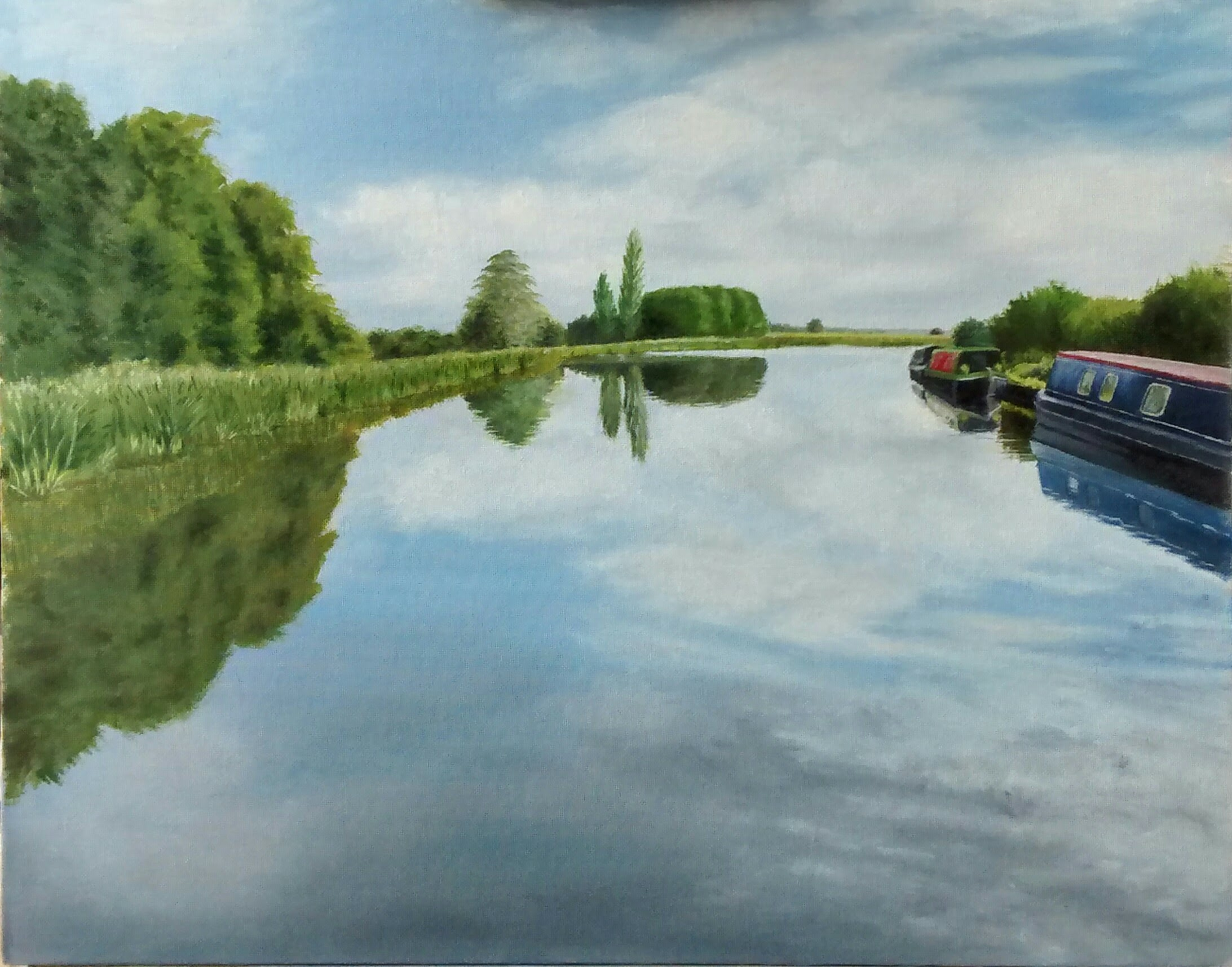 "Tixall Wide, oil on board, 20"" x 16"" (Christine Rigden)"
