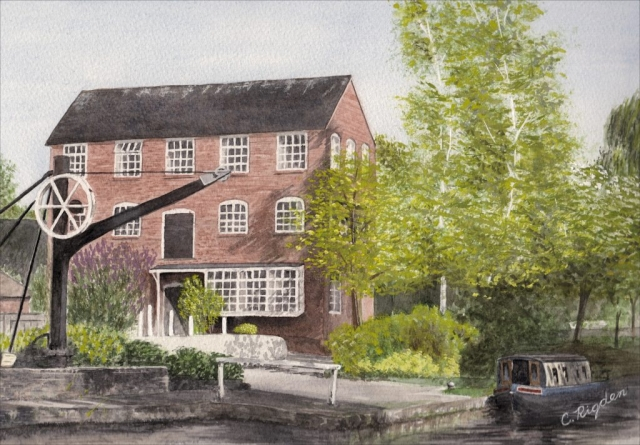 Audlem Mill, watercolour
