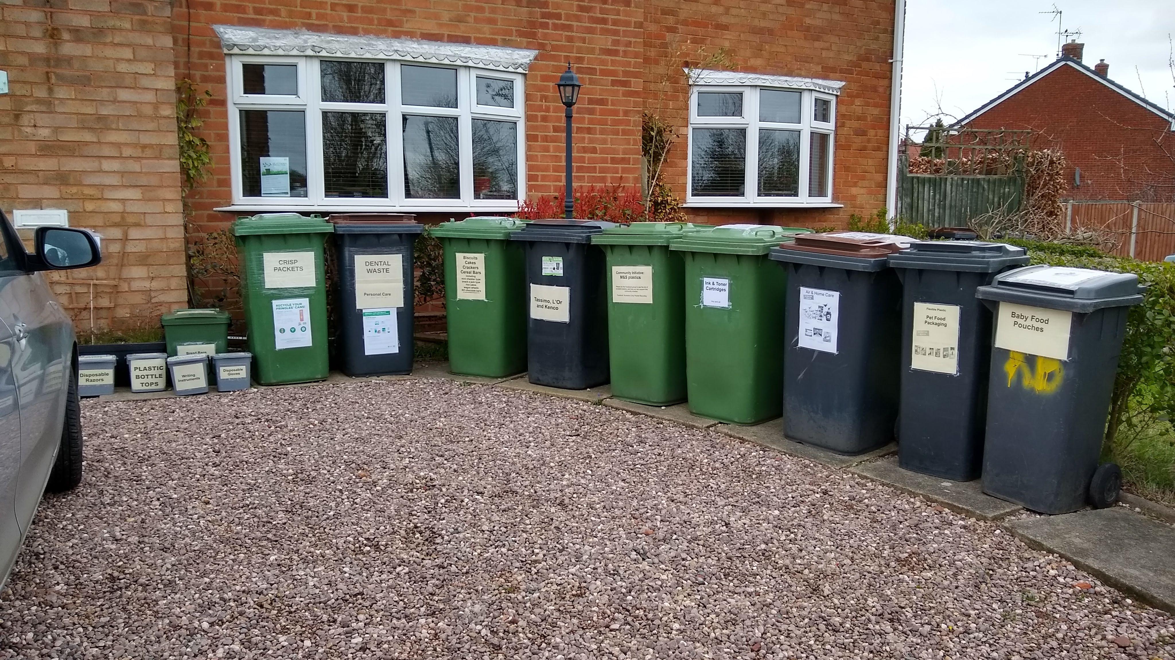 Recycling at 45 Atholl Crescent, Nuneaton